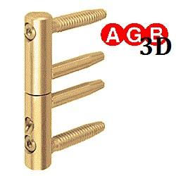 Петля AGB 3D Ø16 регулируемая бихромат