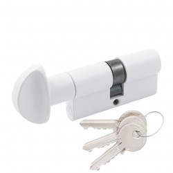 Цилиндр Cortelezzi ключ/поворотник белый матовый